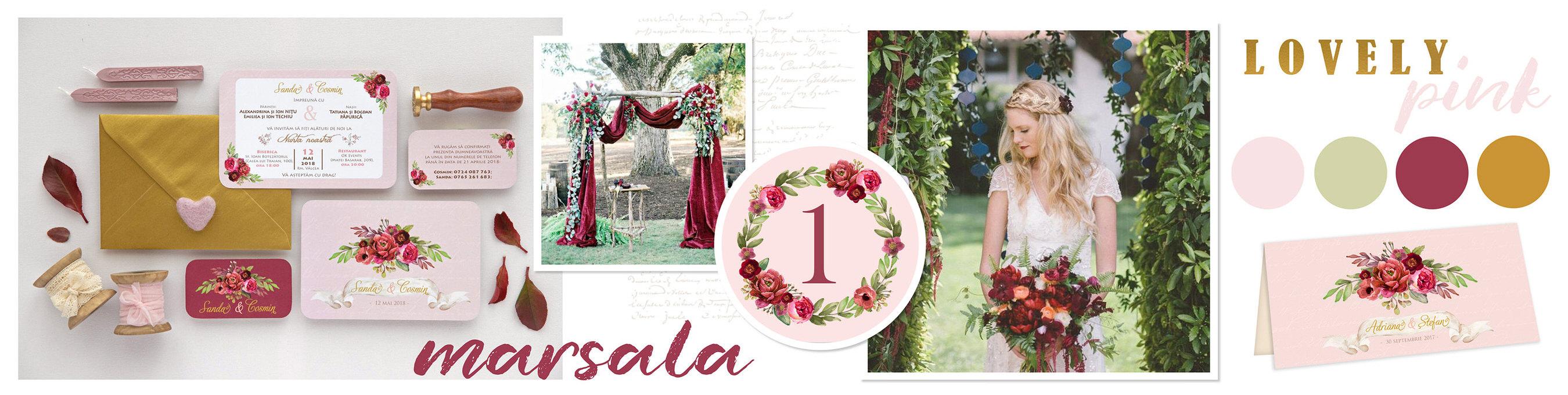 invitatii de nunta cu flori si plicuri colorate