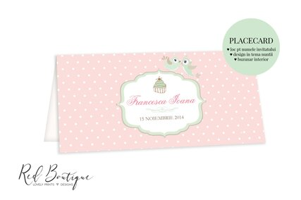 plic pentru bani roz cu buline pentru botez fetita cu pasari si buzunar pentru dar de nunta