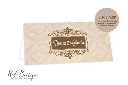 plic de bani cu crem si maro pentru nunta clasic eleganta