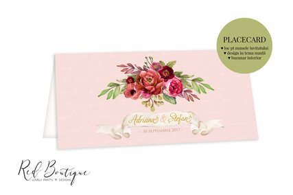 plic pentru bani de nunta cu bujori  si trandafiri rosii