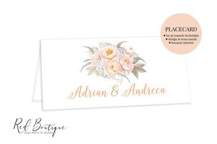 plic pentru bani de nunta cu flori crem portocalii si verdeata