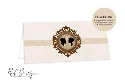 plic pentru bani de nunta crem cu rama maro eleganta