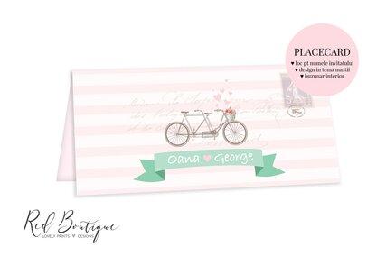 plic pentru bani chic cu bicicleta si dungi alb cu roz