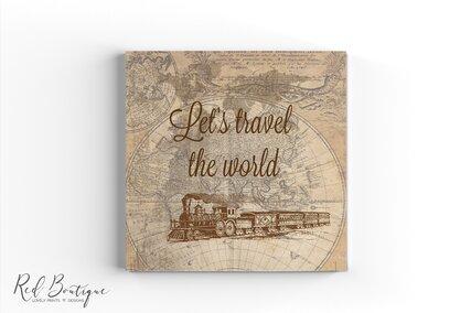 guestbook vintage cu tren vintage personalizat cu foi albe pentru gandurile invitatilor la nunta