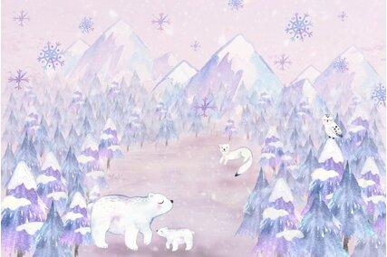 fundal foto de iarna cu ursi polari