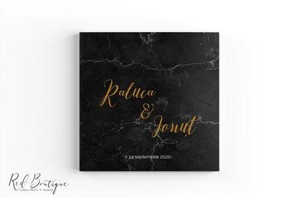 guestbook elegant cu marmura neagra si auriu