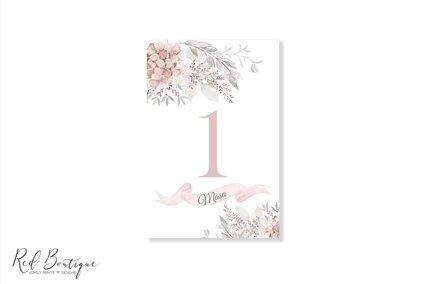 numar pentru mese cu flori roz