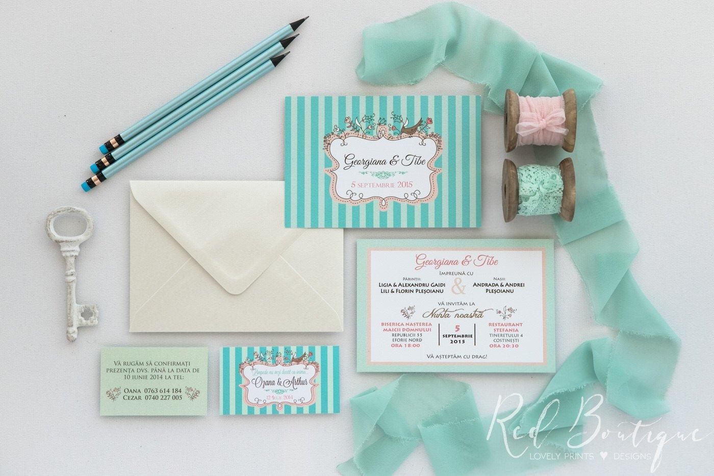 Invitatie De Nunta Cute Mint