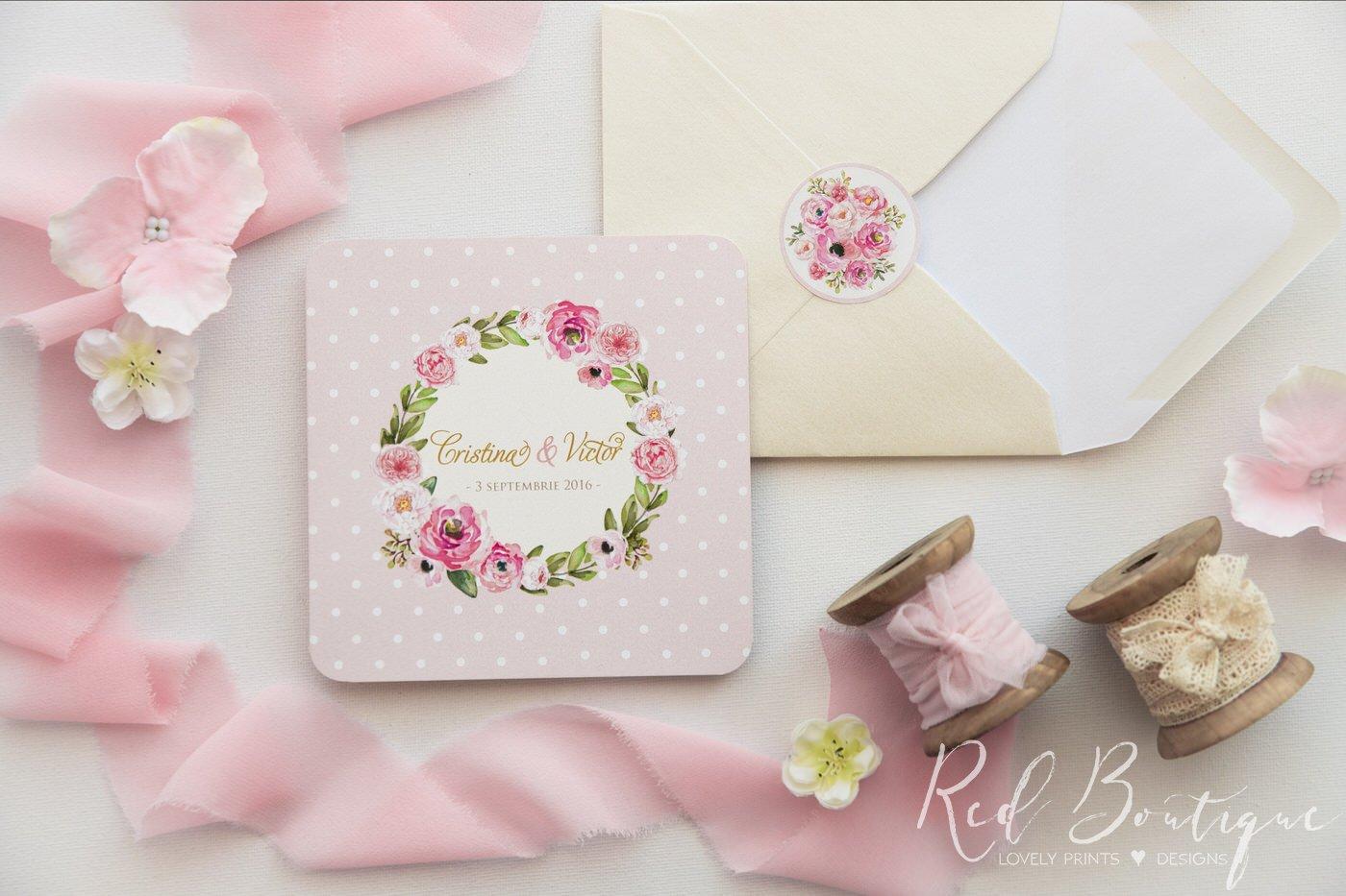 Invitatie De Nunta Pink Love