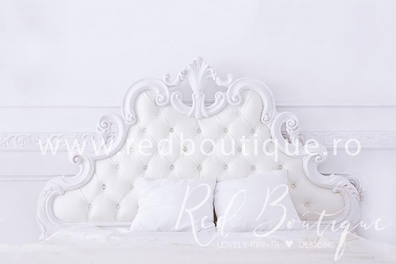 fundal foto cu pat alb