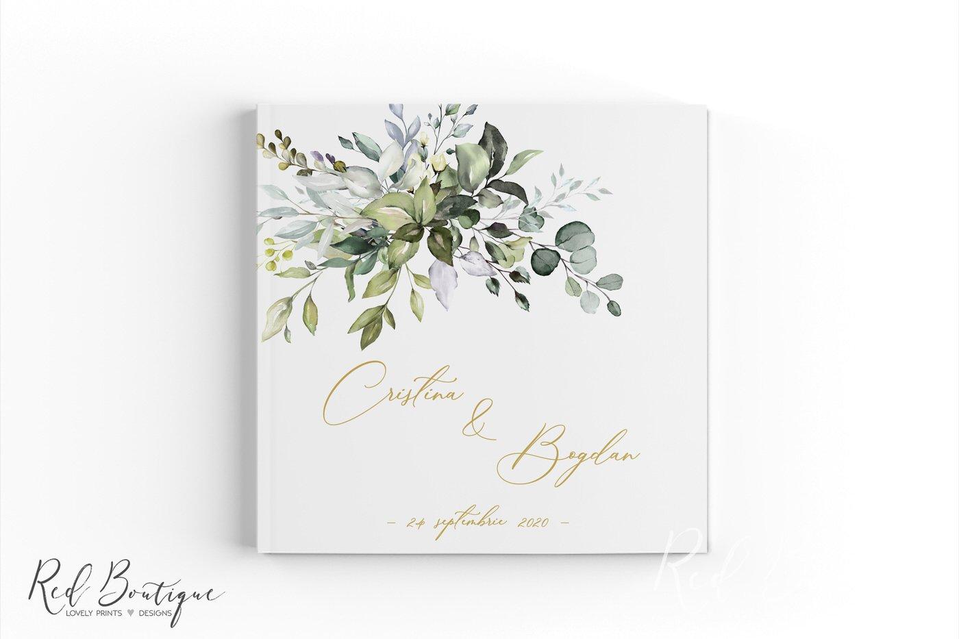 guestbook elegant cu verdeata